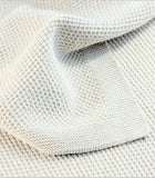 BEMBOKA MOSS STITCH COMBED COTTON BLANKET