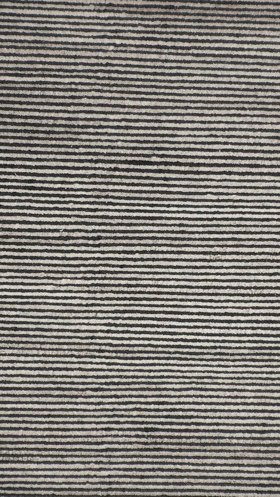 BOHEME RIBBED CHARCOAL RUG by CADRYS