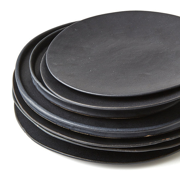 ... SET OF PHENDEI CERAMIC COCO FLAT PLATES BLACK ...  sc 1 st  The Design Hunter & SET OF PHENDEI CERAMIC COCO FLAT PLATES BLACK u2013 The Design Hunter