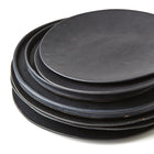 SET OF PHENDEI CERAMIC LIP PLATES BLACK