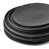 SET OF PHENDEI CERAMIC CLASSIC PLATES BLACK