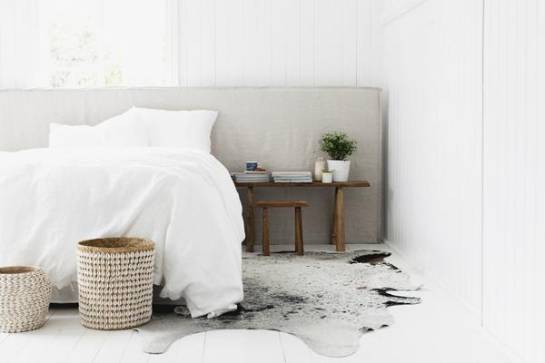 LONG TIME |  LINEN BEDHEAD WITH SLIPCOVER