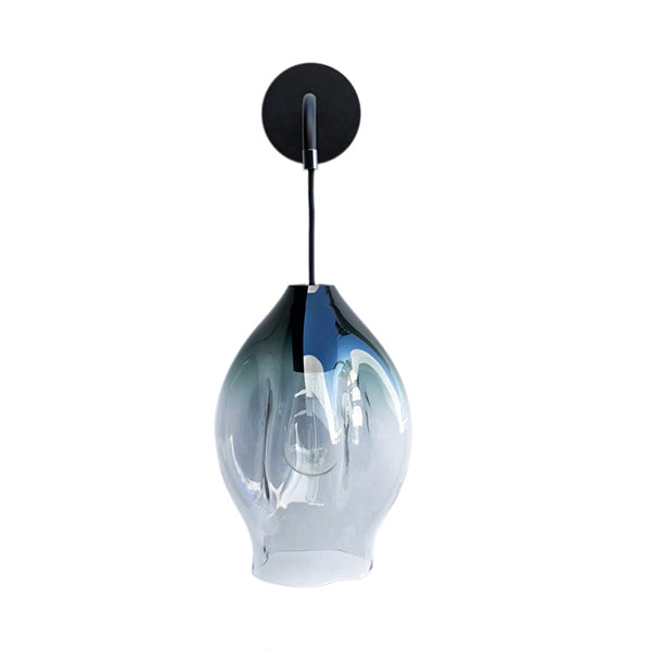 DROPLET WALL LIGHT GREY GLASS