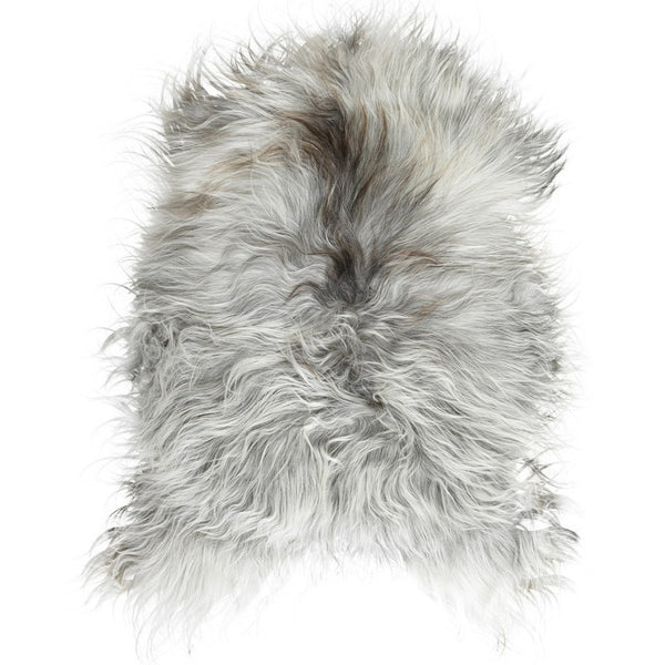 ICELANDIC LONG HAIR SHEEPSKIN RUG NATURAL GREY