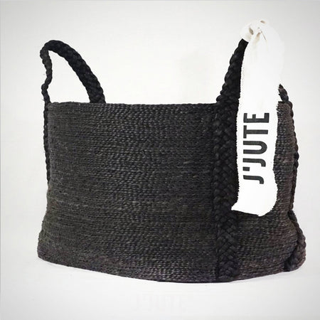 MAYA LARGE WIDE JUTE BASKET ONYX