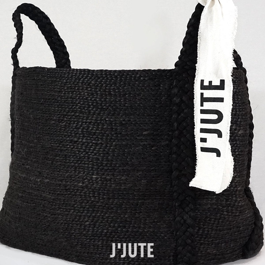 ANDAMAN MEDIUM JUTE BASKET ONYX