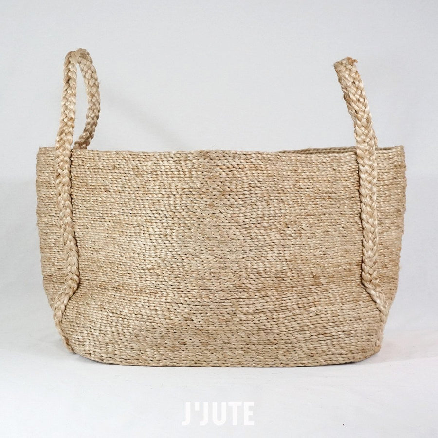 MAYA LARGE WIDE JUTE BASKET NATURAL
