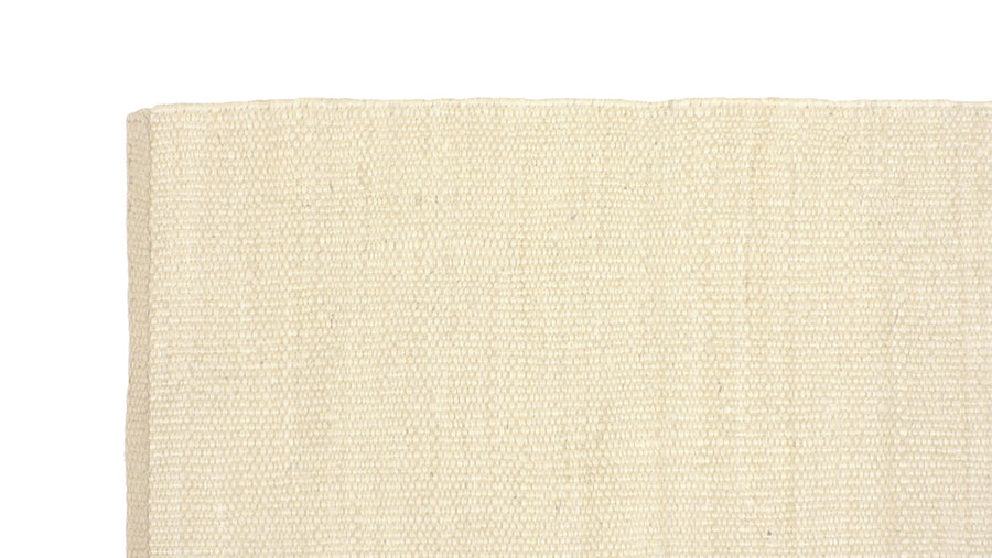 NATURAL JUTE WHITE RUG by CADRYS