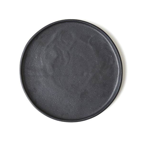 Set Of Phendei Ceramic Lip Plates Black The Design Hunter