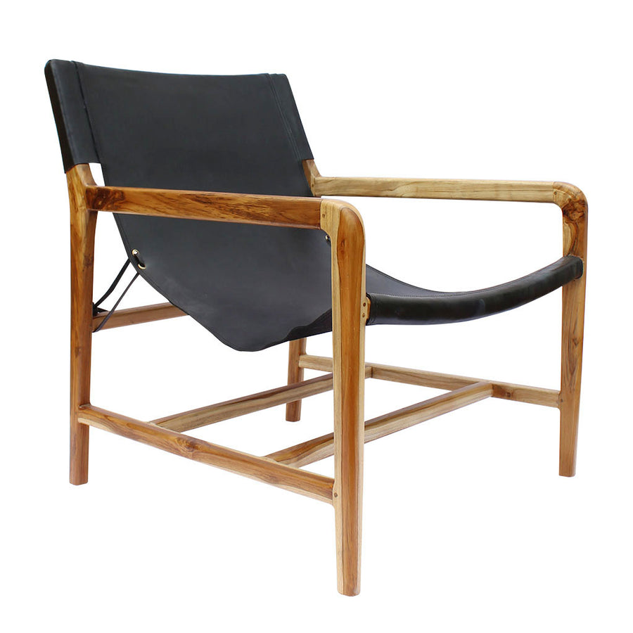 Designer Sling Chairs: SLING CHAIR IN BLACK SOOT