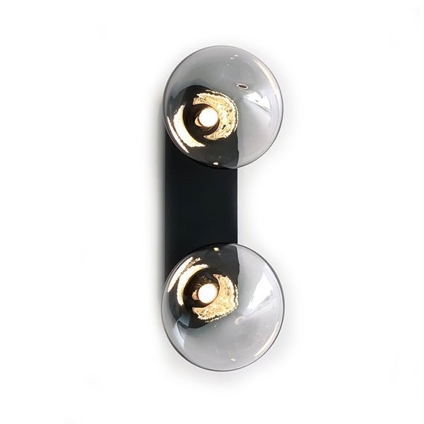 OLLO WALL LIGHT DUO GREY GLASS