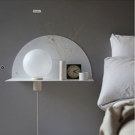 LUNE BEDSIDE WALL SHELF