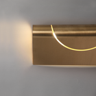 FURL WALL LIGHT SQUARE BRASS