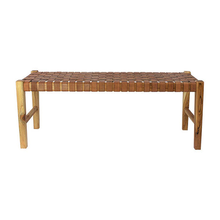 THE ELK BENCH ANTIQUE TAN