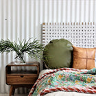 FERN HEADBOARD WHITE SNOW