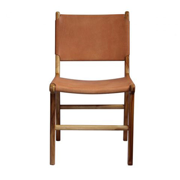 LEATHER DINING CHAIR NUDE LIGHT