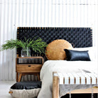 FERN HEADBOARD BLACK SOOT