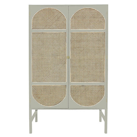 RETRO WEBBING CABINET LIGHT GREY
