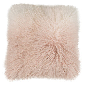 MONGOLIAN SHEEPSKIN CUSHION BLUSH OMBRE