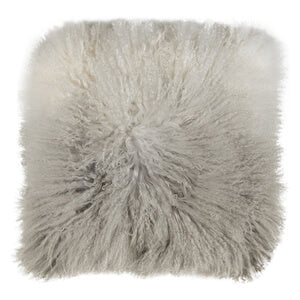 MONGOLIAN SHEEPSKIN CUSHION GREY OMBRE