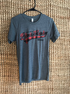 Unisex Buffalo Plaid Script Tee