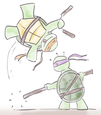 Ninja Turtles Sketch by Hooby Groovy