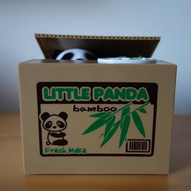 Panda Piggy Bank Box