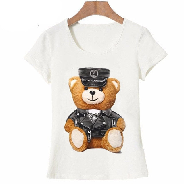 Cute Uniformed Bear Tee