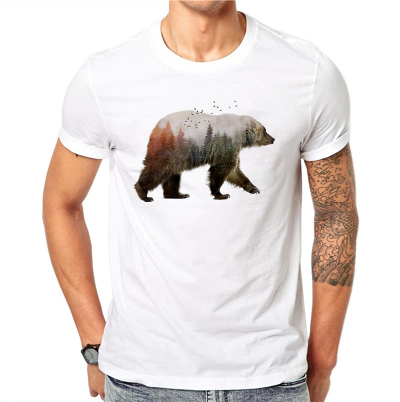 Walking Scenic Bear T-Shirt