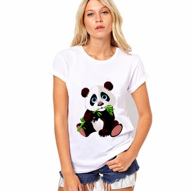 Panda Eating Leaves Tee
