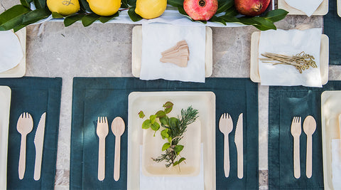 eco-friendly birthday party wooden cutlery