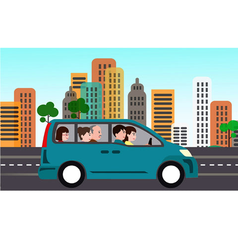 car pooling eco friendly birthday party