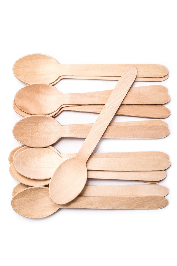 DISPOSABLE WOODEN SPOONS 200PC