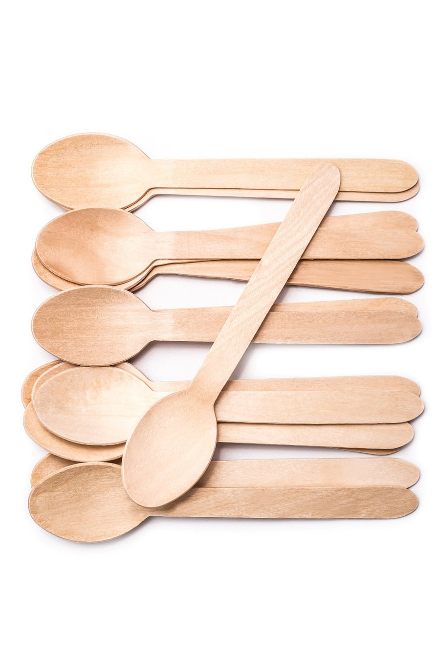 Natural Eco Friendly Disposable Wooden Spoons 100PC