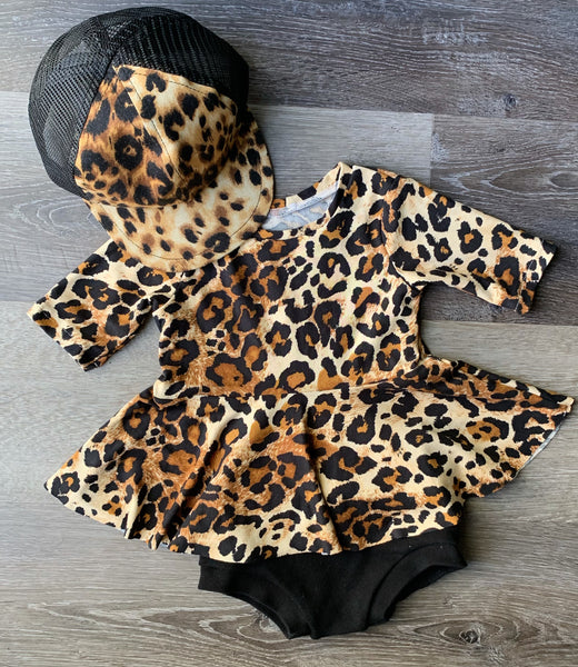 Cheetah Peplum