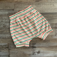 Striped Melon Harem Shorts