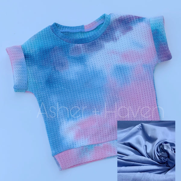 Cotton Candy Tie Dye Dolman + Bummies Set