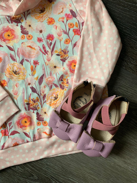 Lavender Bow Flats