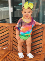 Rainbow Tie Dye Dolman + Bummies Set
