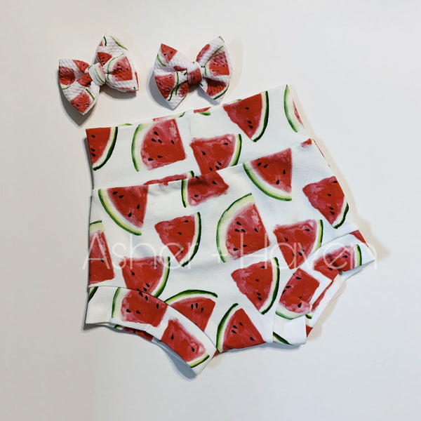 Watermelon High Waisted Bummies