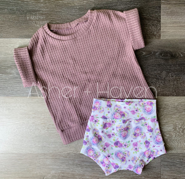 Magical Floral Dolman + Bummies Set