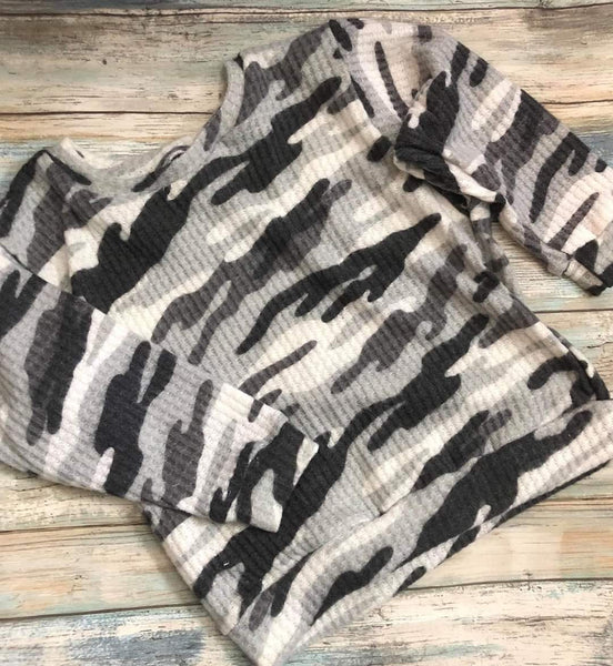 Charcoal Camo Slouchy