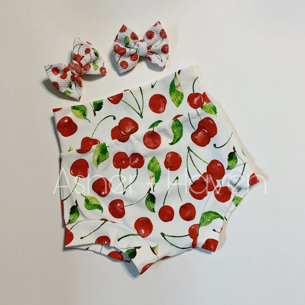 Cherry High Waisted Bummies