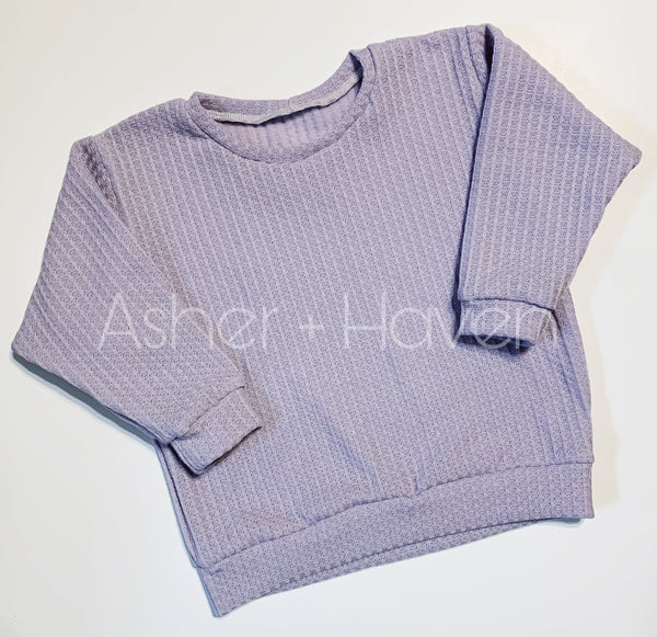 Lavender Mist Slouchy Sweater