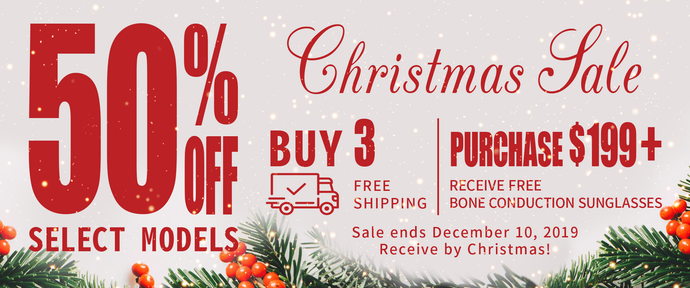 Christmas Sale - 50% off select models!