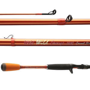 "Wild Wild Orange MicroWave Guide 7'0"" Medium Moderate Casting Rod"