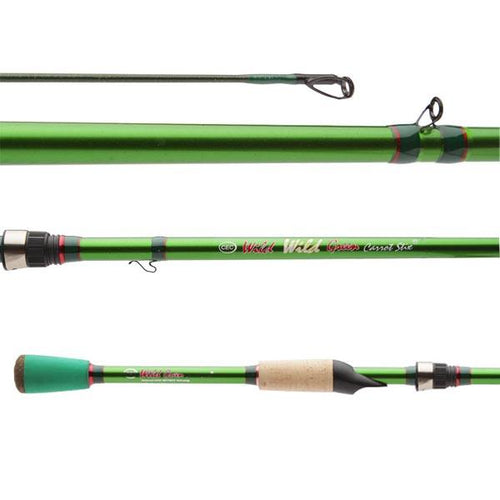Wild Wild Green Pro Medium Lite Fast 2-Piece  fishing rod