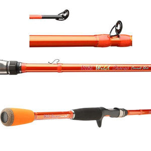 "C2WX662M-MF-C - 6'6"" Wild Wild Orange Medium Moderate Fast Casting 2-Piece Fishing Rod"