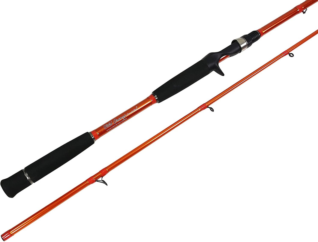 C2WX-1002MH-MF-C - Wild Orange Giant 2-Piece Casting Rod 10'0