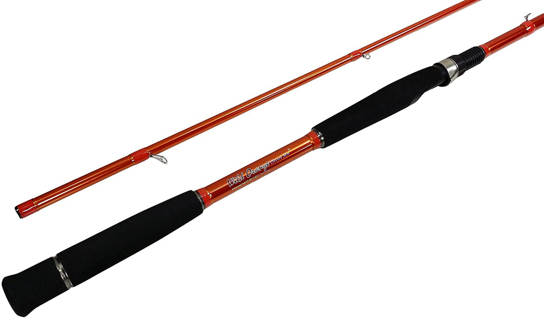 C2WX-1302M-MF-S - Wild Orange Giant 2-Piece Spinning Rod 13'0